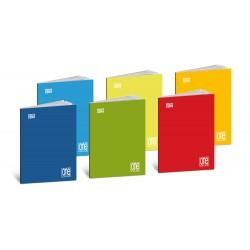 Impatto zero - maxi quaderno a punto metallico, righe c colore assortito grammatura 80gr