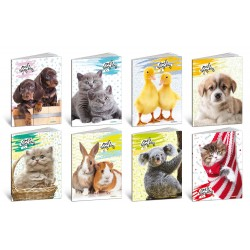 Quaderno small pets a4 colore assortiti grammatura 100gr