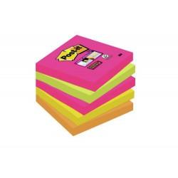 Blocco post-it 654 s super sticky cape town  colore assortiti