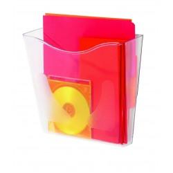 Deflecto vaschetta portadocumenti da parete formato a4 verticale colore trasparente