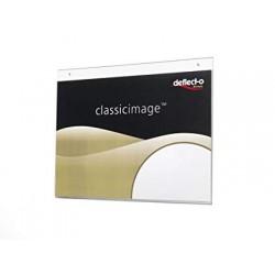 Deflecto portastampati da parete formato a3 orizzontale colore trasparente