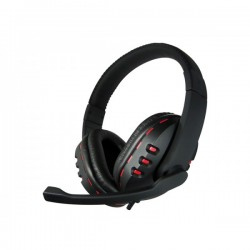 Adj cf788 red star cuffia gaming con microfono colore rosso, nero
