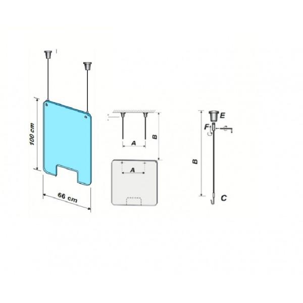Schermo anti-contaminazione sospeso + kit
