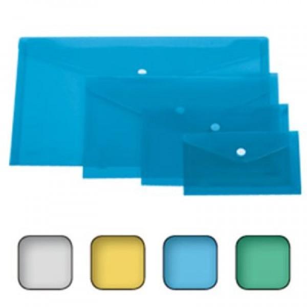 Busta con bottone a4 orizzontale colore assortiti