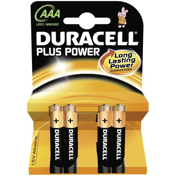 Blister 4pz duracell plus power ministilo