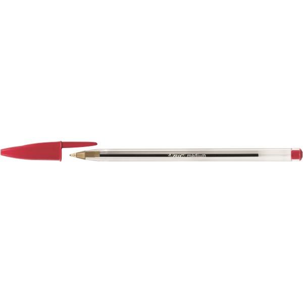 Penna a sfera cristal colore rosso tipo punta conica