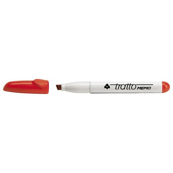 Marcatore tratto memo colore rosso colore rosso tipo punta scalpello