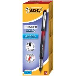 Penna roller triumph 537r colore rosso tipo punta conica