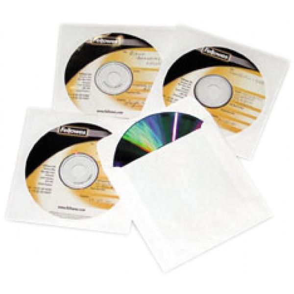 Confezione buste in carta per cd colore bianco
