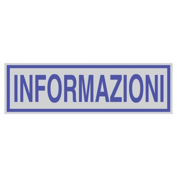 Targhetta adesiva 165x50mm informazioni