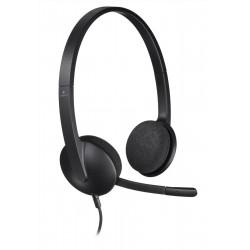 Logitech h960 cuffia con microfono colore nero