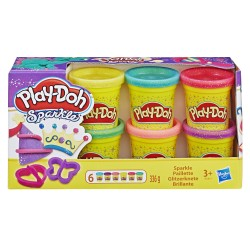 Playdoh 6 vasetti brillanti