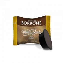 50 capsule caffè don carlo, compatibili con macchina uso domestico lavazza a modo mio, miscela oro