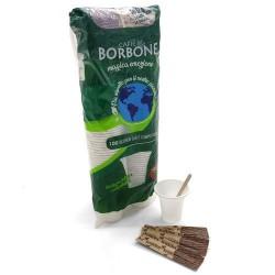 Kit 100 bicchieri compostabili e palette biodegradabili