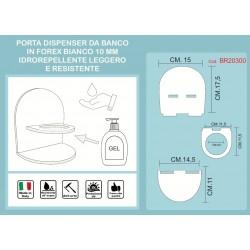 Porta dispenser da banco forex per gel igienizzante colore bianco