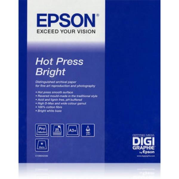 Carta hot press bright fine art a2 (25fg) 330gr/m² - 1conf.  grammatura 330gr