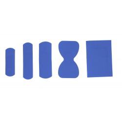 100 cerotti assortiti blu detectable colore blu