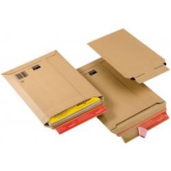 Buste in cartone per spedizioni, chiusura autoadesiva, formato a4+, dimensioni interne 235x340mm adattabile in altezza fino a 35mm - 20pz colore marrone