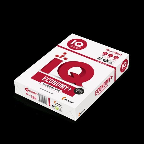 Iq economy+ - carta universale a4 colore bianco grammatura 80gr