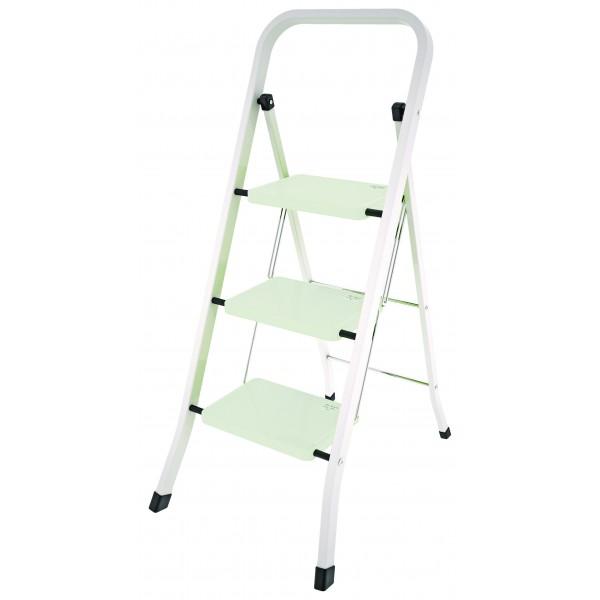 Scaletta in acciaio con tre scalini
