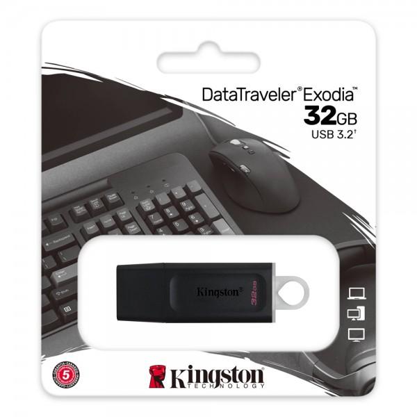 Pen drive datatraveler exodia usb 3.2 da 32gb colore nero