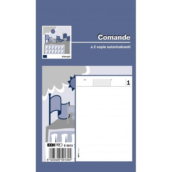 Blocco comande, 25fogli per 2 copie, autoricalcante - prezzo singolo, ord. minimo 20pz