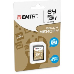 Emtec sdxc micro 64gb classe 10 adattatore incluso colore nero