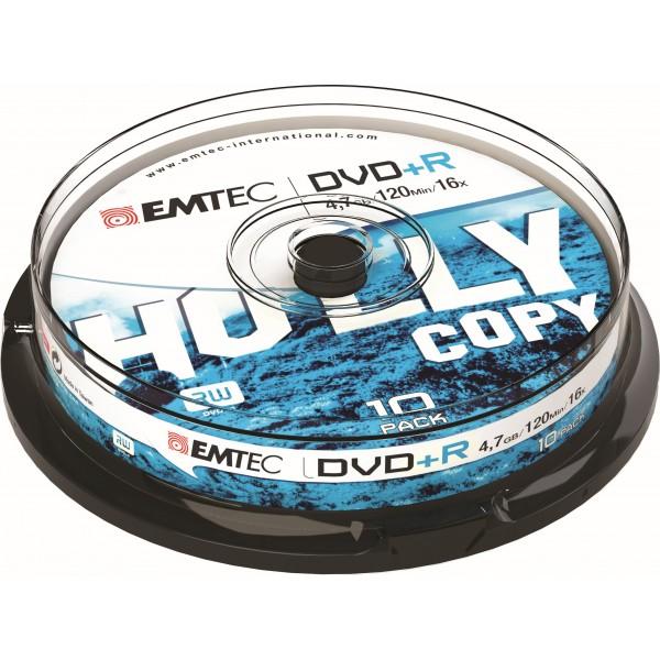 Emtec dvd+r 4.7gb 120min 10pz