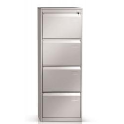 Classificatore 4 cassetti colore grigio