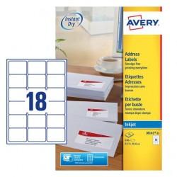 Etichette adesive in fogli a4 - per buste e pacchi colore bianco