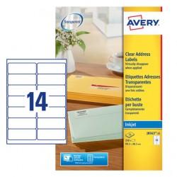 Etichette adesive in fogli a4 - per buste e pacchi colore trasparente opaco