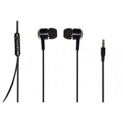Auricolari con microfono nero colore nero