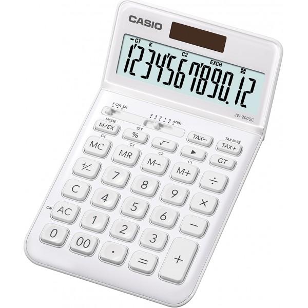 Casio jw-200sc calcolatrice da tavolo colore bianco