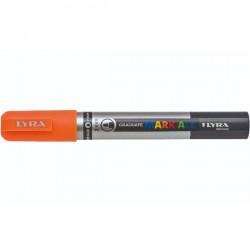 Marcatore gratuate mark all colore arancio fluo tipo punta tonda