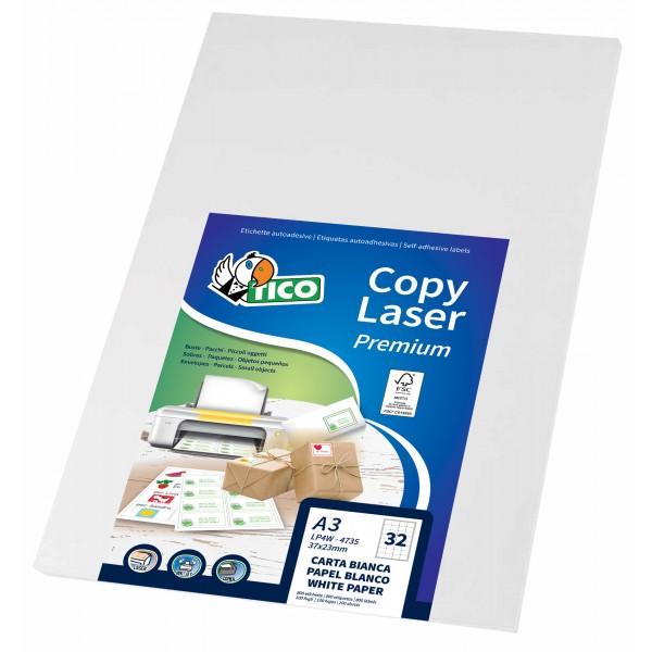 Etichette adesive in fogli a4 - multiuso colore bianco opaco grammatura 153gr