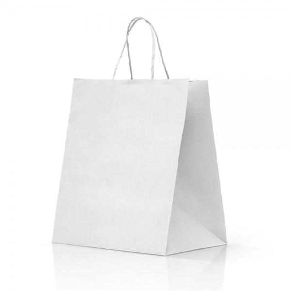 Borsa kraft bianco colore bianco
