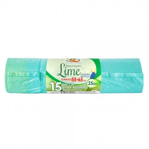 Sacchi per rifiuti colore verde lime