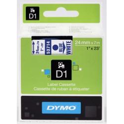 Dymo s0720940 nastro d1 blu/bianco 24mm x 7m