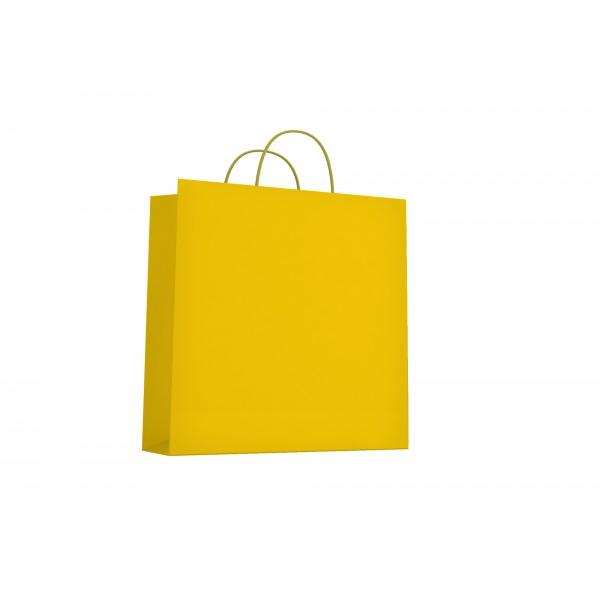Buste regalo, formato 46x16x49cm, colore giallo - 25pz colore giallo