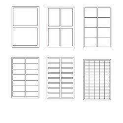 Etichette adesive in foglio a4 colore bianco