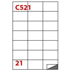 Etichette adesive in fogli a4 - multiuso colore bianco opaco grammatura 70gr
