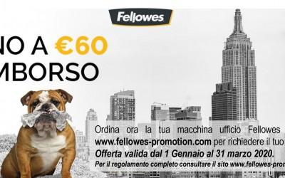 Fellowes - Rimborso fino a € 60,00